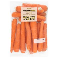 Tesco Everyday Value Carrots Minimum 1Kg