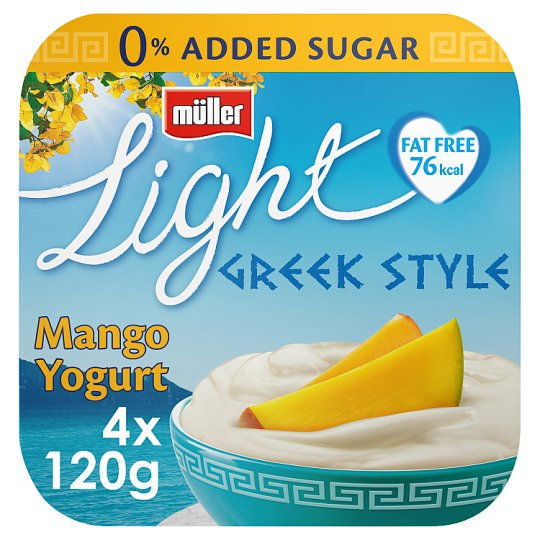 Muller Light Greek Style Mango Yogurt 4 X120g