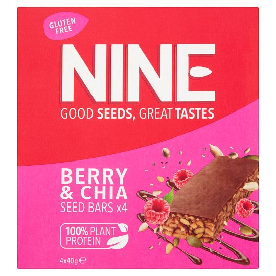 image 1 of Nine Super Seeds Carob Raspberry Chia 4X40g