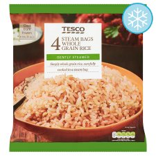 Tesco 4 Steam Bags Whole Grain Rice 4 X 150G
