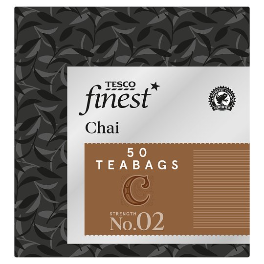 Tesco Finest Chai 50 Tea Bags 125G