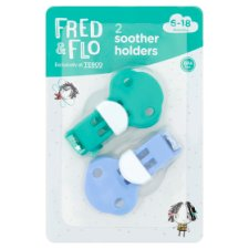 Fred & Flo Soother Holders 2 Pack