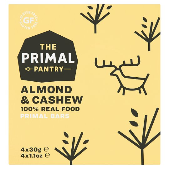Primal Pantry Almond And Cashew Multipack 4X30g