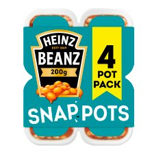 Heinz Baked Beans Snap Pots In Tomato Sauce 4 X200g