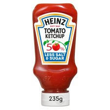 Heinz Tomato Ketchup 50% Less Sugar And Salt 235G