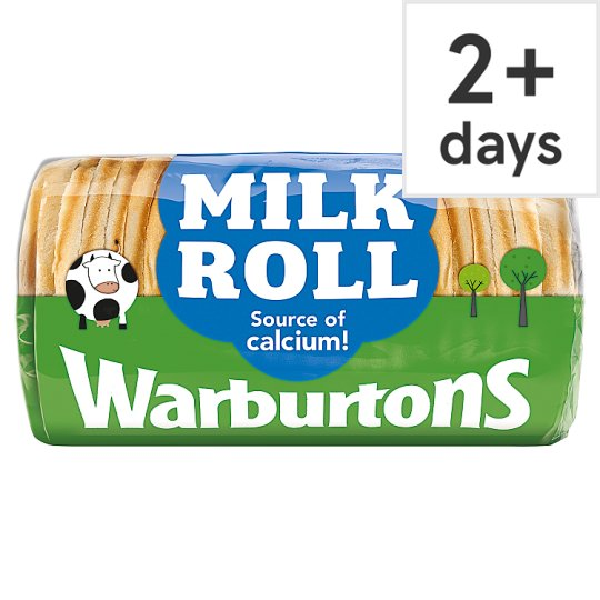 Warburtons B/Pool Milk Roll Sliced White Bread 400G