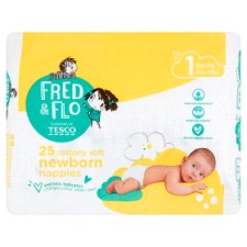 Fred & Flo Newborn Nappy Size 1 25 Pack