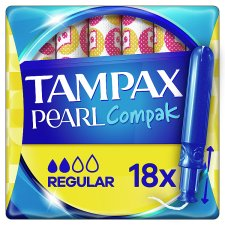Tampax Pearl Compak Regular Applicator Tampons 18