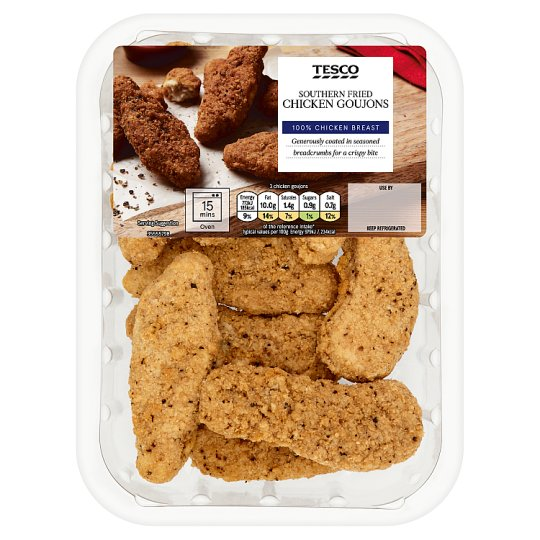 image 1 of Tesco Southern Fried Breaded Chicken Goujons 270G