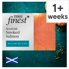 Tesco Finest Mild And Delicate Smoked Salmon 120G