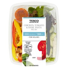 Tesco Chicken Tomato Basil Pasta Salad 260G