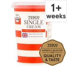 Tesco British Single Cream 600Ml