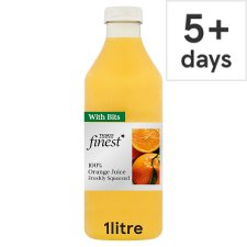 Tesco Finest Orange Juice With Bits 1 Litre