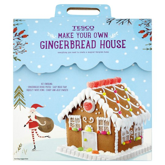 Tesco make your own gingerbread house 675g tesco groceries for How do you make a gingerbread house