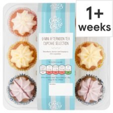 The Cake Crew Mini Afternoon Tea Cupcakes 9Pk