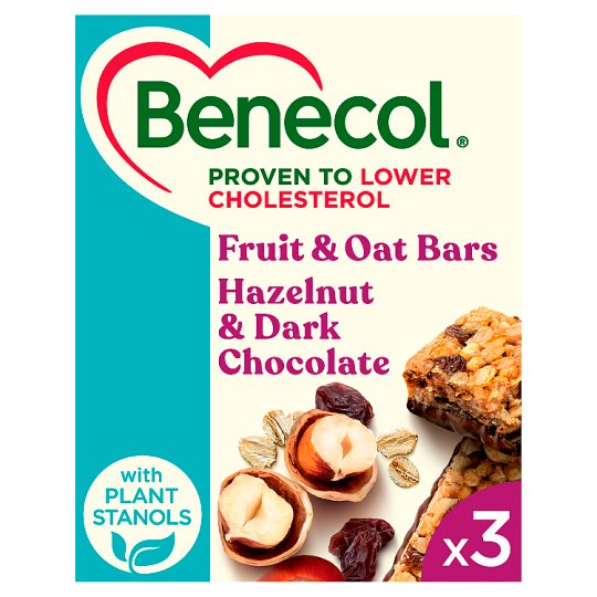 Benecol Raisin And Hazelnut Bars 3 X 40G