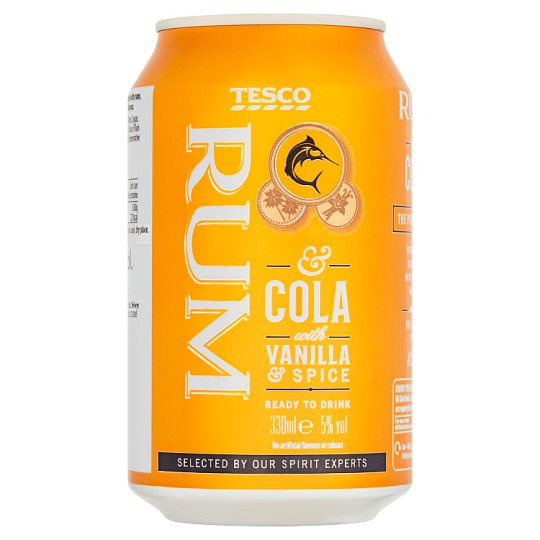 Tesco Spiced Rum And Cola 330 Ml
