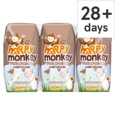 Happy Monkey Chocolate Milk 3 X200ml
