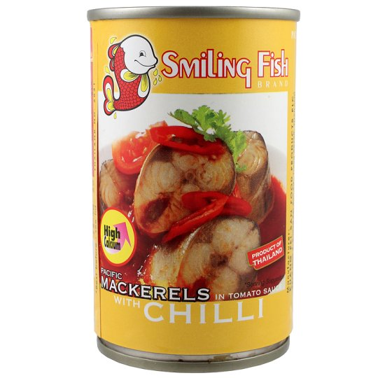 Smiling Fish Pacific Mackerels In Tomato Sauce 155G