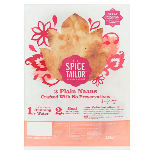 image 1 of The Spice Tailor Flame Baked Plain Naans 2 Pack 220G