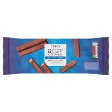 Tesco Snappy Milk Chocolate Finger Biscuit 8Pk 172G