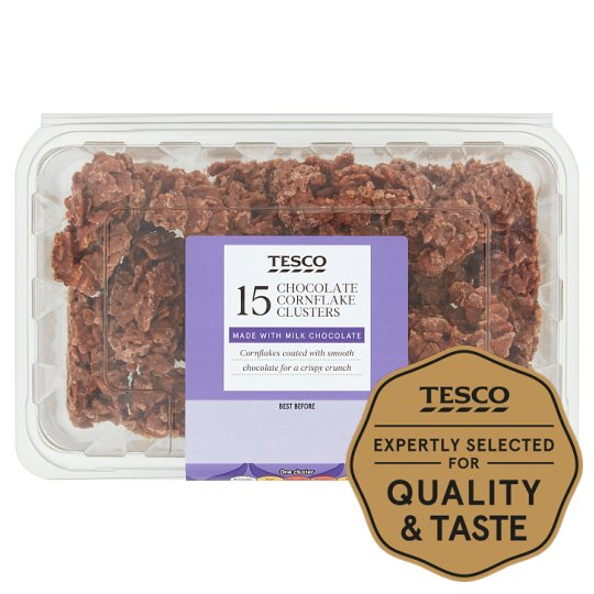 Tesco Mini Chocolate Cornflake Bites 15Pk