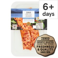 Tesco 2 Sweet Chill Hot Smoked Salmon Fillets 180G