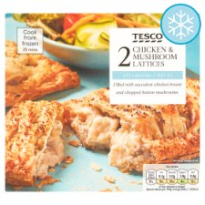 Tesco 2 Chicken And Mushroom Lattices 280G
