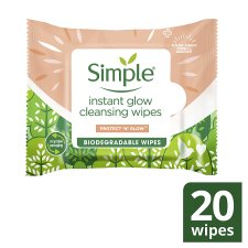 Simple Instant Glow Cleansing Wipes X20