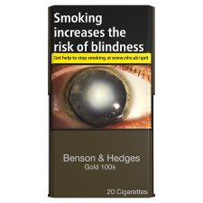 Benson And Hedges Gold 100S 20 Pack