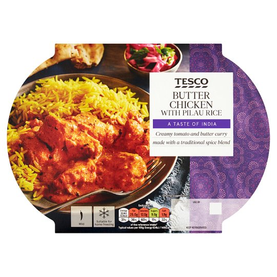 Tesco Indian Butter Chicken And Rice 450G