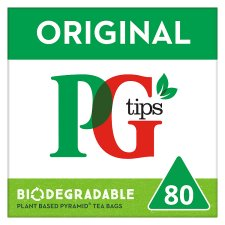 Pg Tips Pyramid 80 Tea Bags 232G