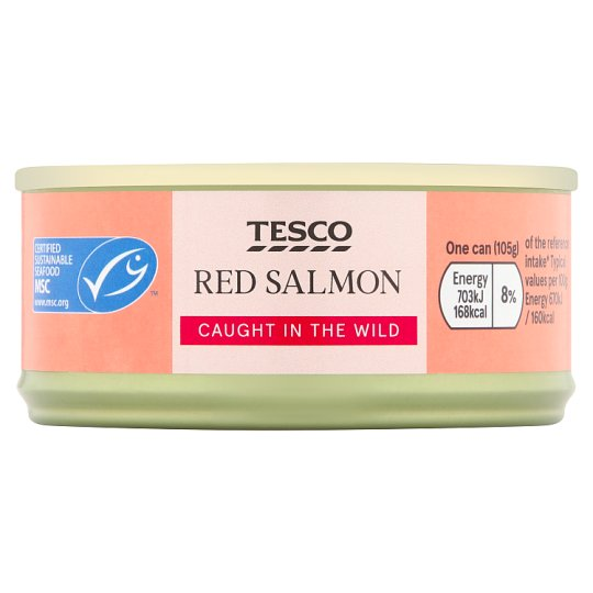 Tesco Wild Pacific Red Salmon 105G