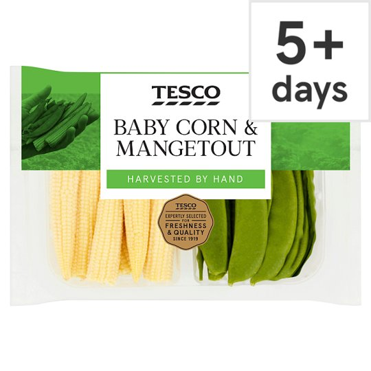 Tesco Babycorn And Mangetout 175G