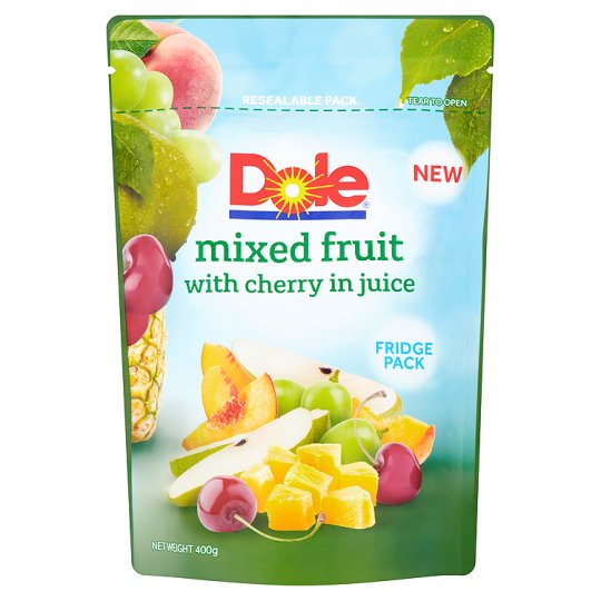 Dole Mixed Fruit With Cherry In Juice 400G