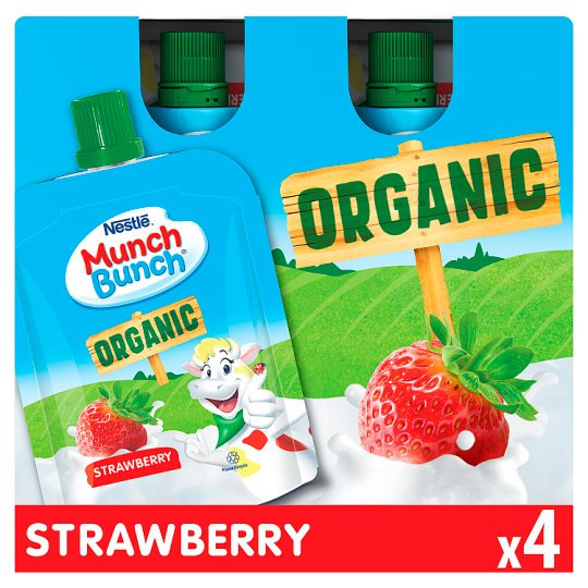 Munch Bunch Organic Strawberry Squashums 4X70g