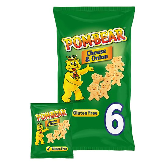 image 1 of Pom Bear Cheese And Onion Potato Snacks 6 X 15G