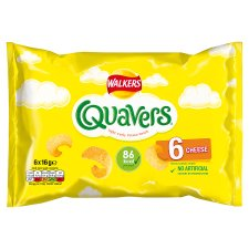 Walkers Quavers Cheese Snacks 6 X 16 G