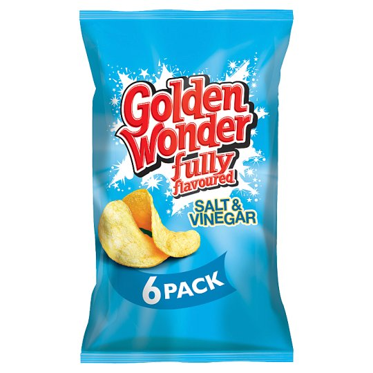 Golden Wonder Salt And Vinegar Crisps 6X25g