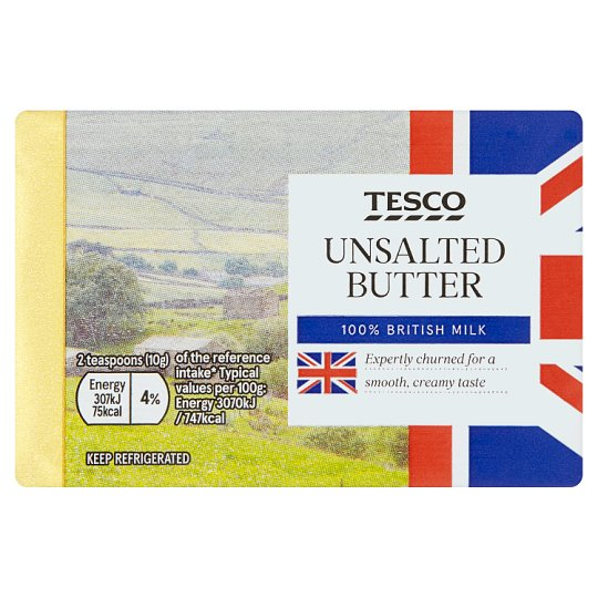 Tesco British Unsalted Butter 250G