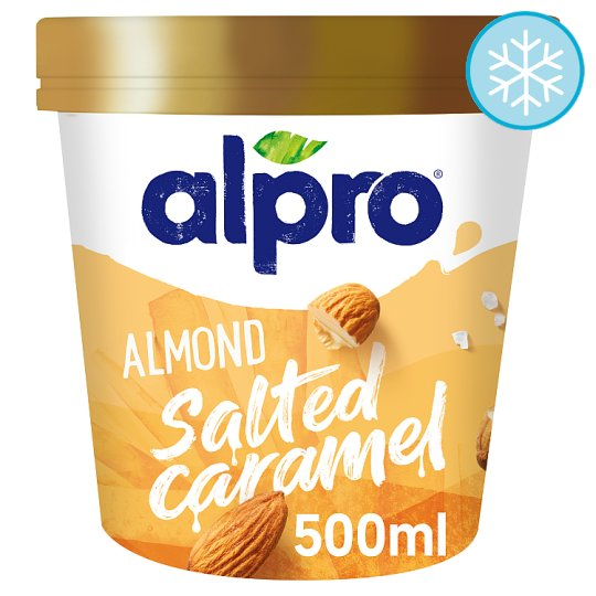 Alpro Ice Cream Almond Salted Caramel 500Ml