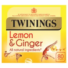 Twinings Lemon And Ginger 80 Tea Bags 120G