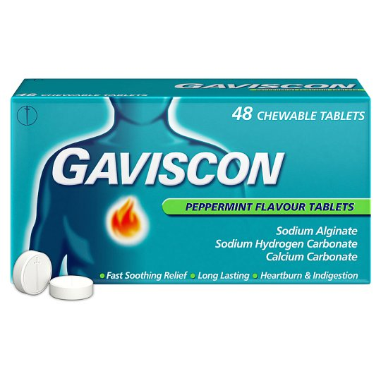 image 1 of Gaviscon Original Peppermint 48 Tablets