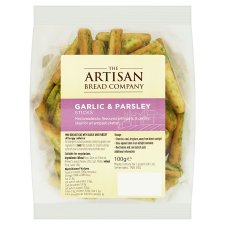 Artisan Bread Co Garlic And Parsley Breadsticks 100G