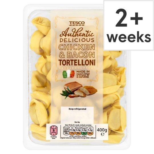 Tesco Chicken And Bacon Tortelloni Pasta 400G