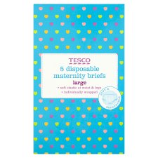 Tesco Disposable Maternity Briefs Size 18/20 X5
