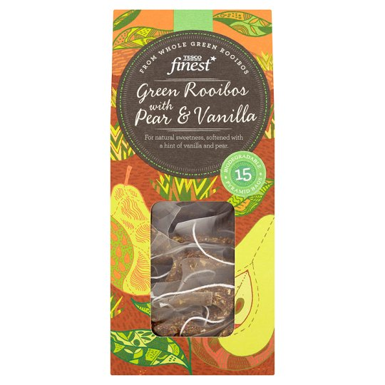 Tesco Finest Green Pear And Vanilla Tea 15S 30G