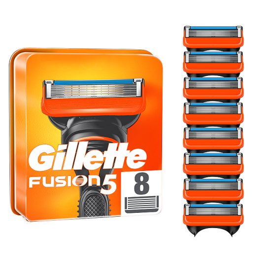 image 1 of Gillette Fusion Razor Blades Refill 8 Pack