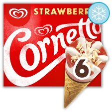 Cornetto Strawberry Ice Cream 6 Pack 540Ml