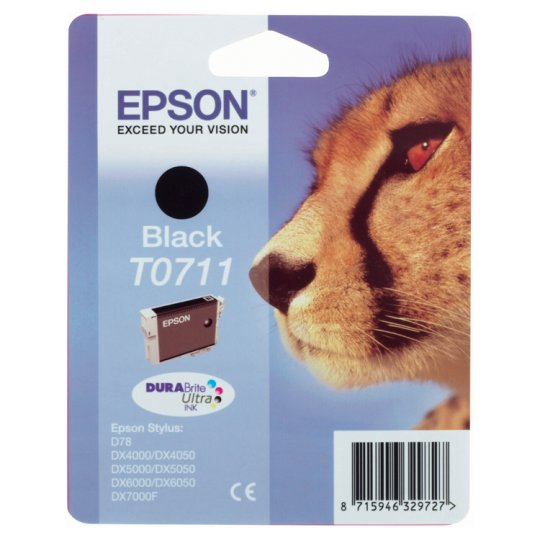 Epson T0711 Cheetah Black